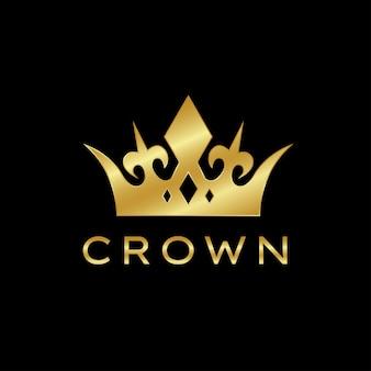 Logotipo moderno da coroa logotipo abstrato da rainha real rei