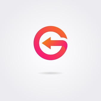 Logotipo moderno da letra g com cores vibrantes