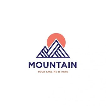 Logotipo moderno da montanha