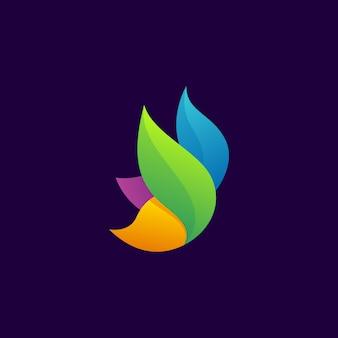 Logotipo moderno de borboleta