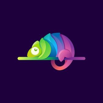 Logotipo moderno de camaleão