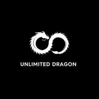 Logotipo moderno de dragão ilimitado