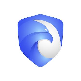 Logotipo moderno de escudo de águia