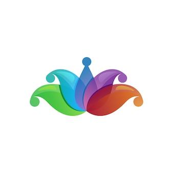 Logotipo moderno de lótus