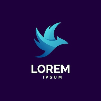 Logotipo moderno de pássaro