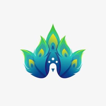 Logotipo moderno de pavão
