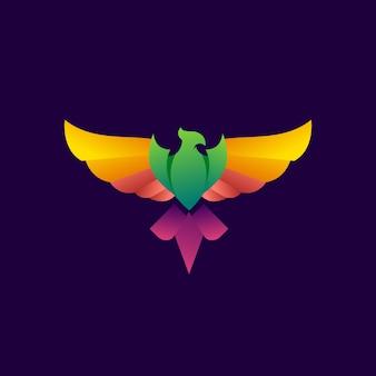 Logotipo moderno de phoenix