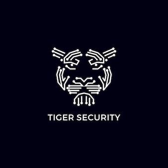 Logotipo moderno de segurança do tigre