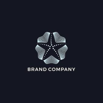 Logotipo moderno de starfish