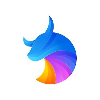 Logotipo moderno de touro