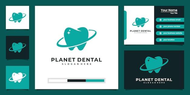 Logotipo moderno de uma clínica dentária e design de cartão de visita