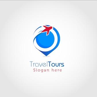 Logotipo moderno de viagem e turismo