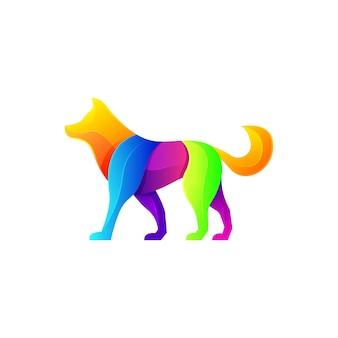 Logotipo moderno do cão