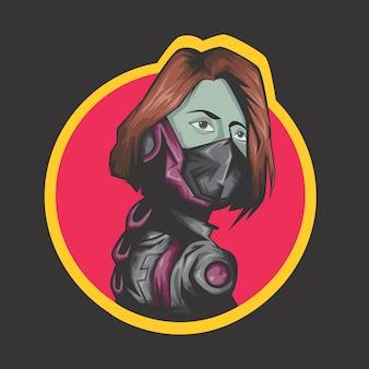 Logotipo moderno do lutador