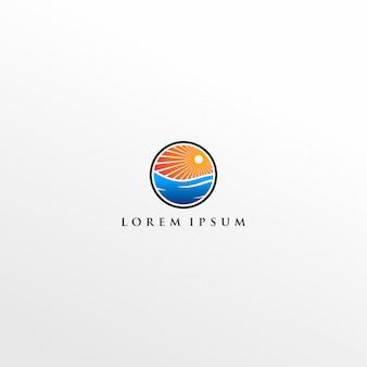 Logotipo moderno do nascer do sol