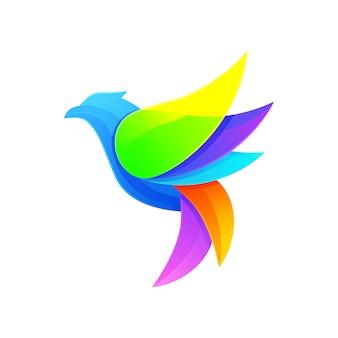 Logotipo moderno do pássaro