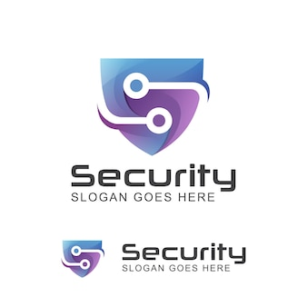 Logotipo moderno do sistema de tecnologia de segurança criativa letra s com símbolo de escudo