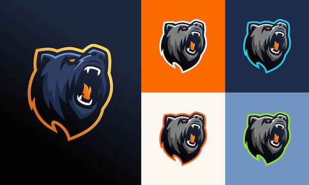 Logotipo moderno do urso pardo profissional