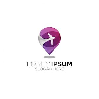 Logotipo moderno gradiente de viagens locais