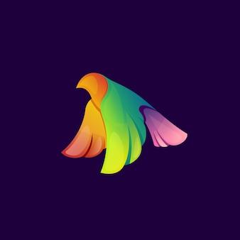 Logotipo moderno pássaro