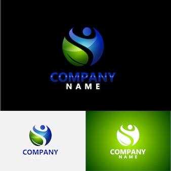 Logotipo moderno saúde e fitness