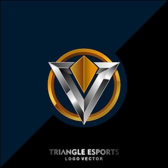 Logotipo moderno triângulo