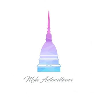 Logotipo mole antonelliana monument