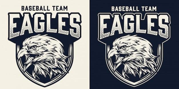 Logotipo monocromático de time de beisebol