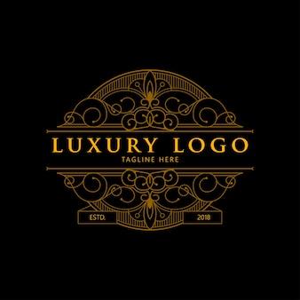 Logotipo monoline geométrico de luxo