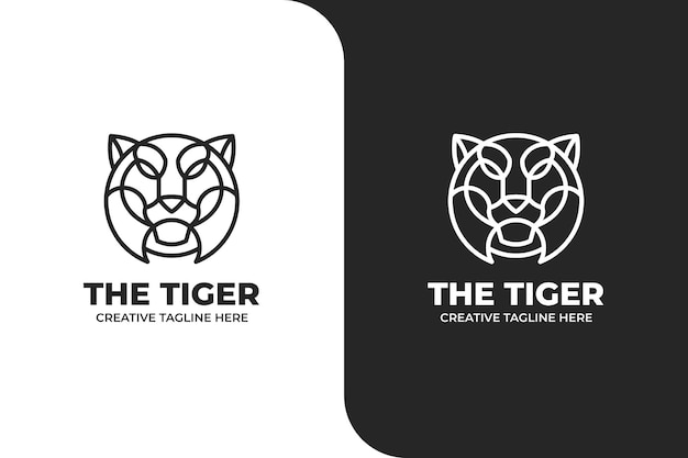 Logotipo monoline tiger