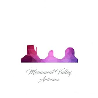 Logotipo monument valley arizona polygon