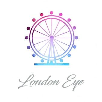 Logotipo monumento abstrato para o london eye feito de triângulos