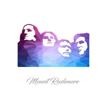 Logotipo mount rushmore monumento polygon