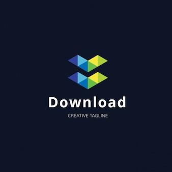 Logotipo multicolor tecnológico