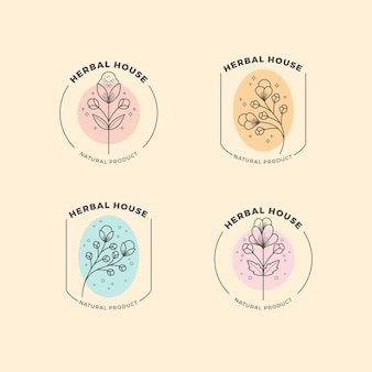 Logotipo natural da empresa definido em estilo minimalista