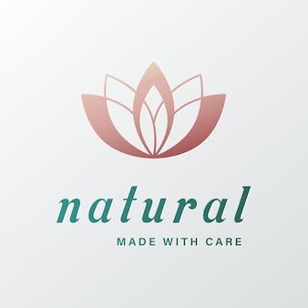 Logotipo natural para branding e identidade corporativa.