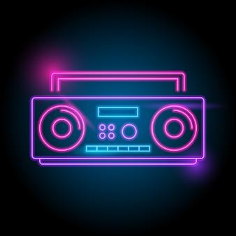 Logotipo neon de rádio