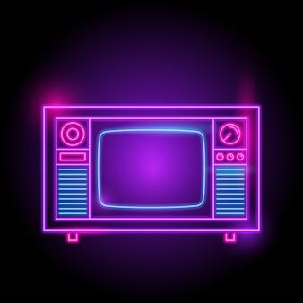 Logotipo neon de televisão