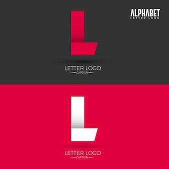 Logotipo origami style l letter