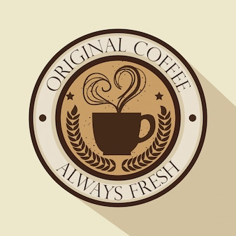 Logotipo original do café