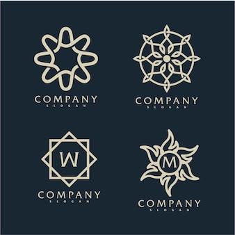 Logotipo ornamental elegante com nome da empresa