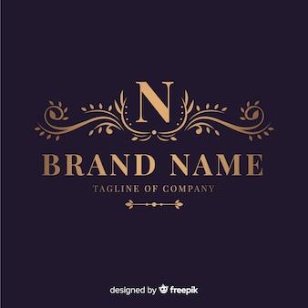 Logotipo ornamental elegante para empresa