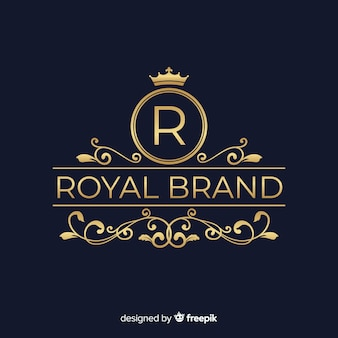 Logotipo ornamental elegante