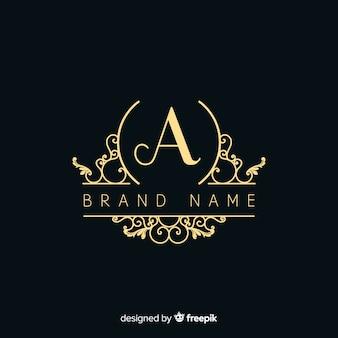 Logotipo ornamental elegante