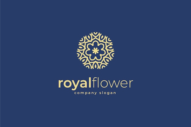 Logotipo ornamental floral abstrato
