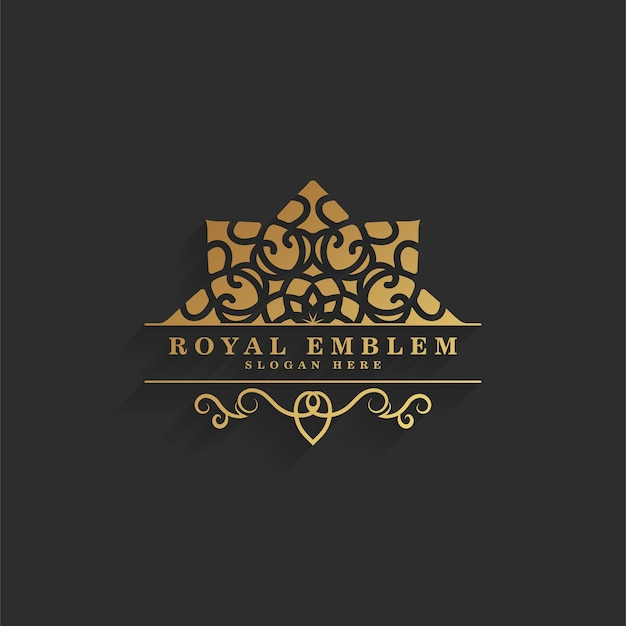 Logotipo ornamental retrô elegante