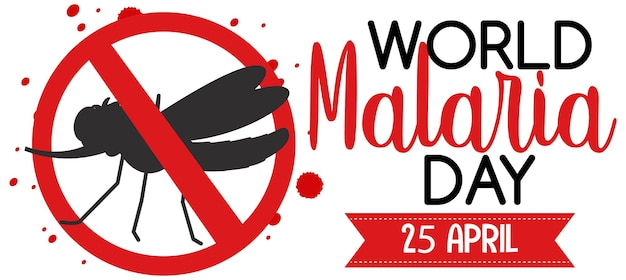 Logotipo ou banner do dia mundial da malária sem sinal de mosquito