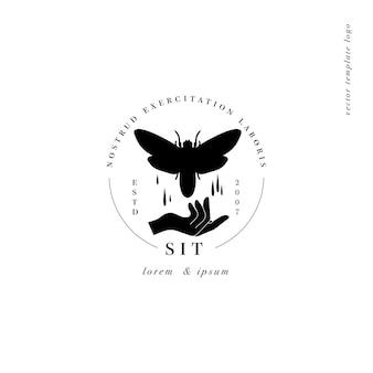Logotipo ou emblema do modelo linear de design