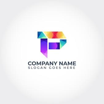 Logotipo p abstrato