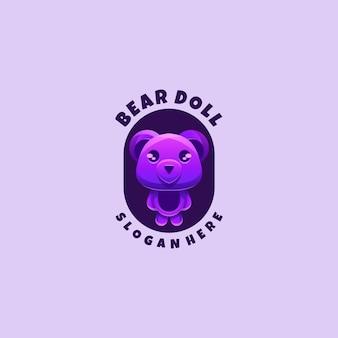 Logotipo para colorir de urso